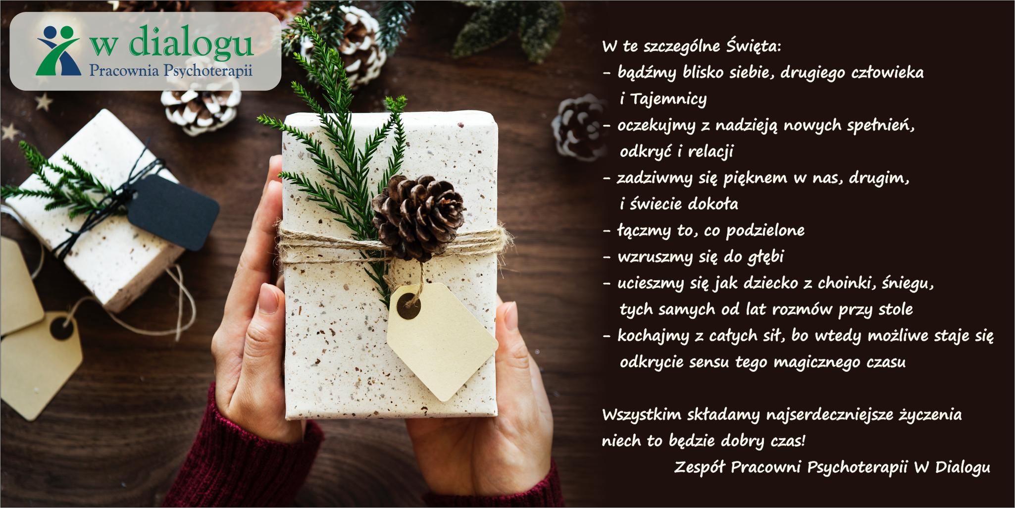 życzenia świąteczne psychoterapia w Dialogu